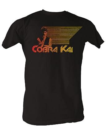 772140b9 Amazon.com: Karate Kid, The - Retro Cobra Kai Mens T-Shirt in Coal ...