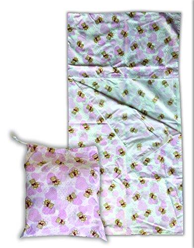 Juego de Guardería de Verano osos corazones rosa saco dormir + Bolsa guardería – 2 –