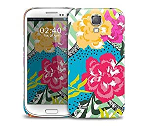 floral collage bright colours Samsung Galaxy S4 GS4 protective phone case