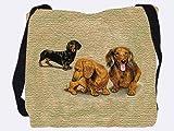 Dachshund Pups Tote Bag - 17 x 17 Tote Bag