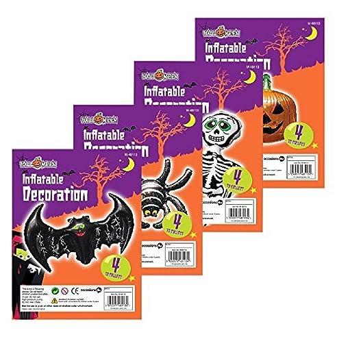 4 x halloween neuheit luftobjekte dekorationen spider totenkopf fledermaus und krbis - Kaminumhang Dekorationen