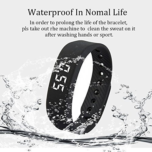 Smart Wristband Non Bluetooth Pedometer Bracelet Fitness Tracker Smart Watch with Step Calories Counter Distance Time / Date (Simple,No app,No Phone need) for Walking Running Kids Men Women