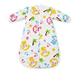 Fairy Baby Removable Long Sleeve Wearable Blanket Cartoon Sleeping Bag Approx 2.5 Tog(Fit Baby Length 35.43-43.31inch,Monkey)