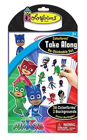 Nickelodeon Colorforms Take Along Re-Stickable Set: PJ Masks