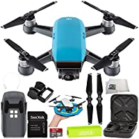 DJI Spark Portable Mini Drone Quadcopter Starter Palm Landing Pad Bundle (Sky Blue)