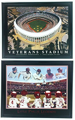 Phillies Legend - Philadelphia Phillies Little Legends Framed Lithograph and Veteran Stadium Framed Aerial Photo Set of 2 LL6009