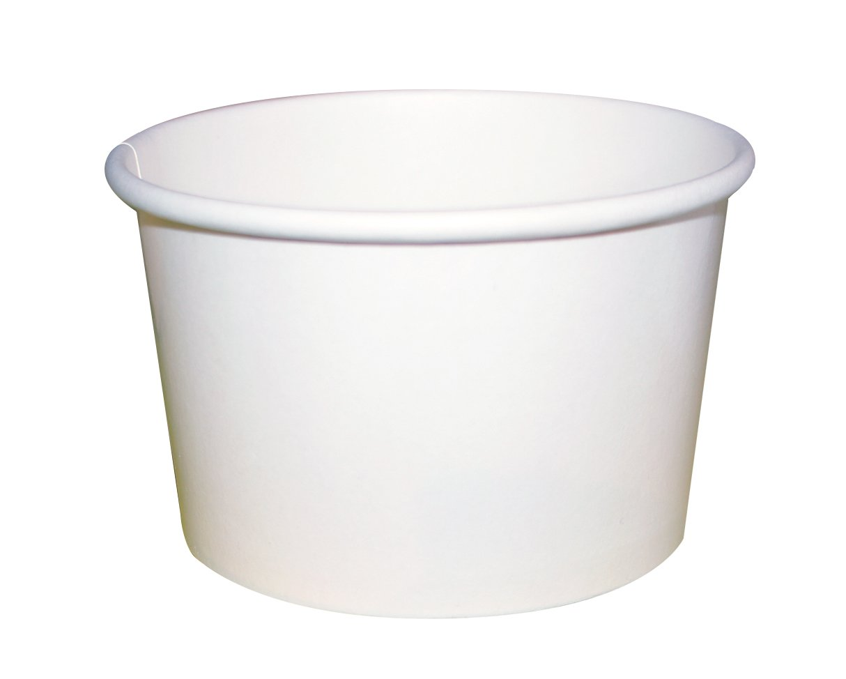 PacknWood White Cardboard Paper Soup Container Bucket, 8-Ounce Capacity (Case of 500) by PacknWood