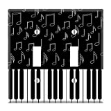 Dual Toggle Wall Switch Cover Plate Decor Wallplate - I Love Piano