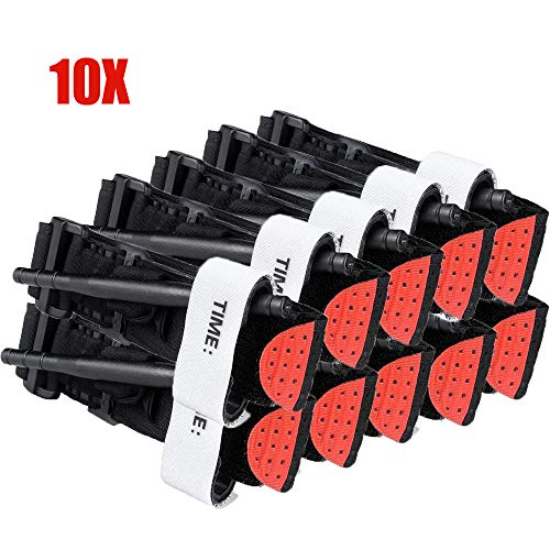 10 Packs Medical Tourniquet Combat Outdoors Spinning Emergency Tourniquet One-Handed Tourniquet Medical First Aid Equipment Action Medical First Aid Supplies