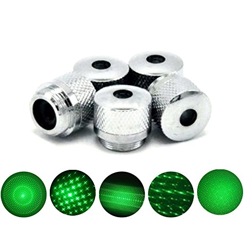 (5 Style Pattern Converter Light Refraction Head for Green Red Blue Laser Accessories)