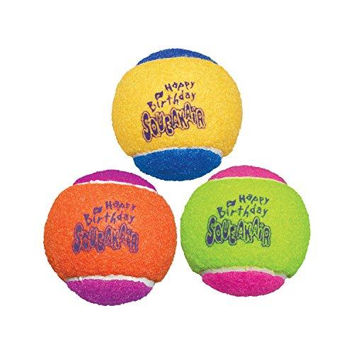 KONG Air Dog Squeakair Birthday Balls Dog Toy