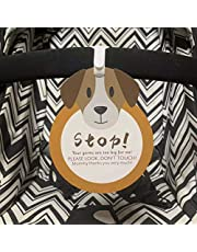 Puppy-Stop,Please Look,Don't Touch Baby Sign Tag (Girl Boy Preemie Sign, Newborn, Baby Car Seat Tag, Baby Bed Tag,Stroller Tag, Carrycot Basket Tag,Baby Preemie No Touching Car Seat Sign Tag) W/Hanging Straps