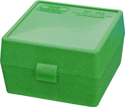 250 Round Magazine - MTM Case-Gard RM-100 Series Medium Rifle Ammo Box, 100 Round, Green