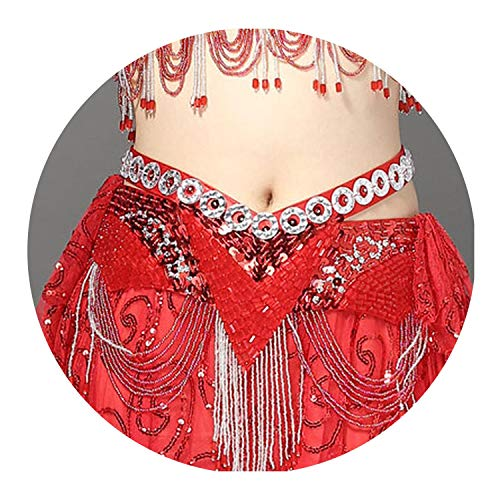 Tribal Belly Dance Costumes Los Angeles - 6 Colors Belly Dance Coin Belt