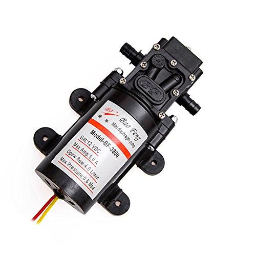 (NUZAMAS NEW 12V High Pressure Diaphragm Self Priming Water Pump for Caravan/RV/Boat/Marine)