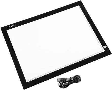 Huion Dpower A4 ultrafina de dibujo de tabla de mesa LED plantilla para estarcir animaciã almohadilla de caja de luz: Amazon.es: Electrónica