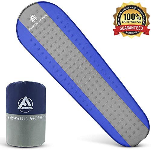 Forward Moving Quality Self Inflating Sleeping Pad Sleep Comfortably Anywhere - Thick 1.5 Foam Sleeping Mat for Camping, Hiking & Backpacking - Mattress for Kids & Adult - Inflates Quickly