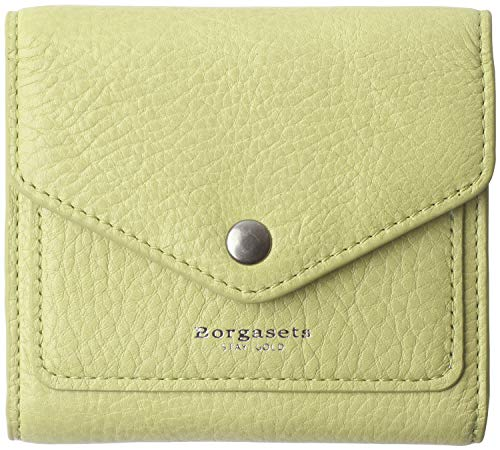 Credit Card Billfold - Small Leather Wallet for Women, RFID Blocking Women's Credit Card Holder Mini Bifold Pocket Purse (Limited Edition-Tea Green)
