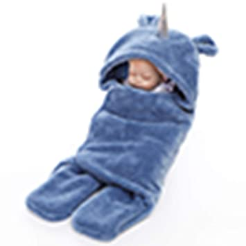 AZUO Bebé Sacos De Dormir, Otoño E Invierno Recién Nacido Bebé Bebé Chica Chico Dibujos Animados Unicornio Pijamas Bebé Carros Saco De Dormir,Blue: ...