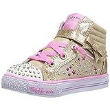 Skechers Kids Girls' Shuffles-Starry Spirit Sneaker, Gold/Multi, 12 M US Little Kid