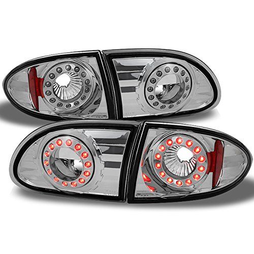 - For Chevy Cavalier 2Dr Coupe & 4Dr Sedan LED Style Chrome Taillights Repalcement Pair 4pcs Assemblies
