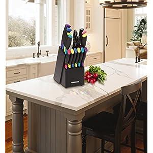 Farberware 15-Piece Multicolor Stainless Steel Knife Block Set