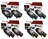 Laser Tek Services Compatible Phaser 6015 Toner Cartridge Replacements for the Xerox 106R01630, 106R01627, 106R01628, 106R01629 (2 Black, 2 Cyan, 2 Magenta, 2 Yellow, 8-Pack)