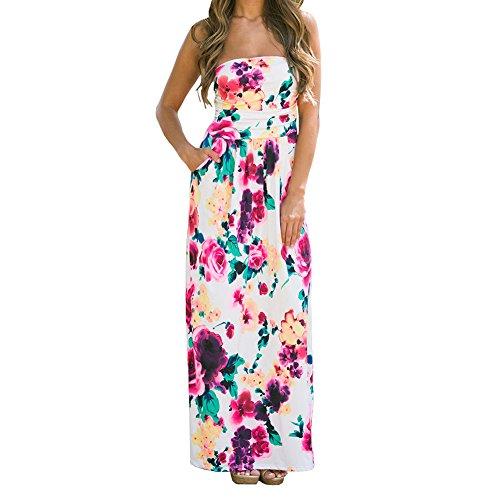 ANRABESS Strapless Shoulder Floral Graceful product image
