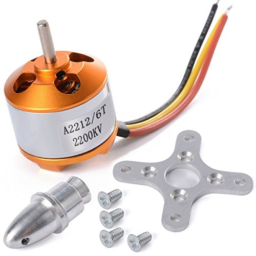 WST A2212 / 6T 2200KV Brushless Motor Outrunner Motor for DJI F330 F450 F550 RC Airplane Helicopter Multicopter Quadcopter by WST