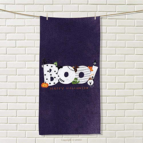 DESPKON-HOME Hair Towel Happy Halloween Absorbent and Super Soft Towels W 12