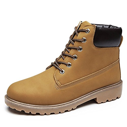 SITAILE Men Women Comfortable Ankle Boots Lace up Waterproof Combat Work Safety Shoes by SITAILE (Image #6)
