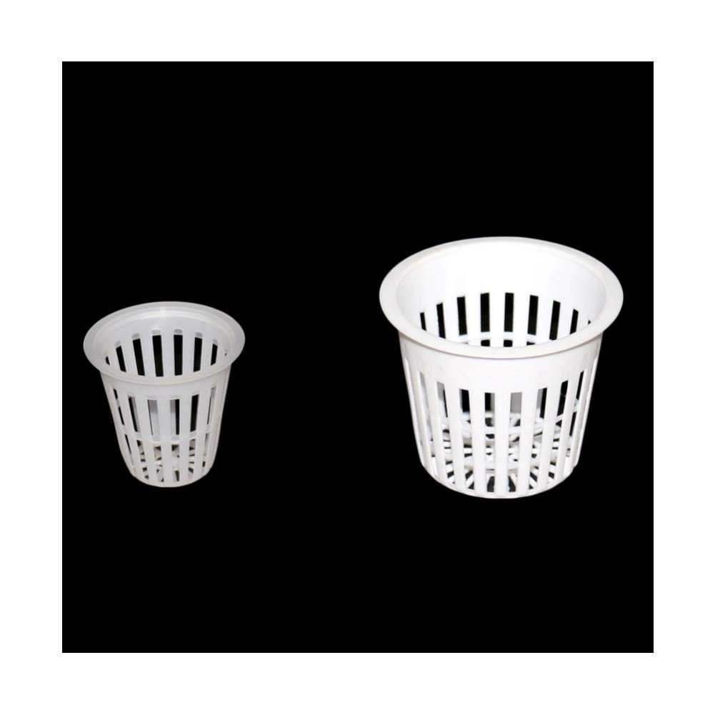 Adhere To Fly 30 Pieces Hydroponic Mesh Pot Greenhouse Soilless Cultivation Plastic Net Cup Vegetable Grow Basket (45mm Black)