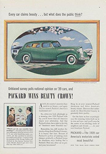 1939 Crown - Unbiased survey polls & Packard 120 Wins Beauty Crown! Ad 1939 T