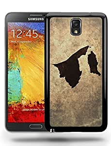 Brunei National Vintage Country Landscape Atlas Map Phone Case Cover Designs for Samsung Galaxy Note 3 Kimberly Kurzendoerfer