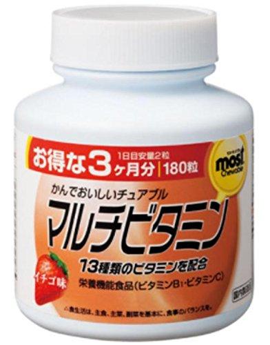 オリヒロ MOSTチュアブル マルチビタミン 180粒 24個 B07B9SRW6H