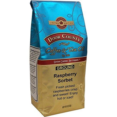 Door County Coffee, 8oz Bags, Spring & Summer Seasonal (Raspberry Sorbet, Ground)