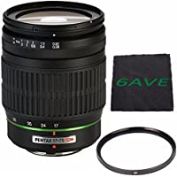 Pentax SMCP-DA 17-70mm f/4 AL (IF) SDM Autofocus Lens for Digital SLR + UV Filter + MicroFiber Cloth 6AVE Bundle