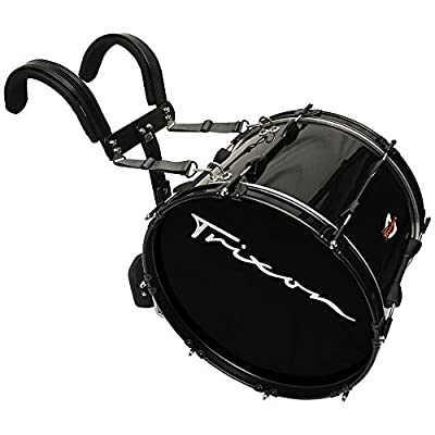 "Trixon Pro Series Marching Bass Drum 22"" x 12"" - Black Polish by Trixon Drums"