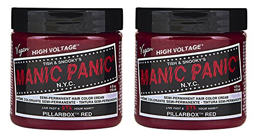 Price comparison product image Manic Panic Semi-Permament Haircolor Pillarbox Red 4oz (2 Pack)