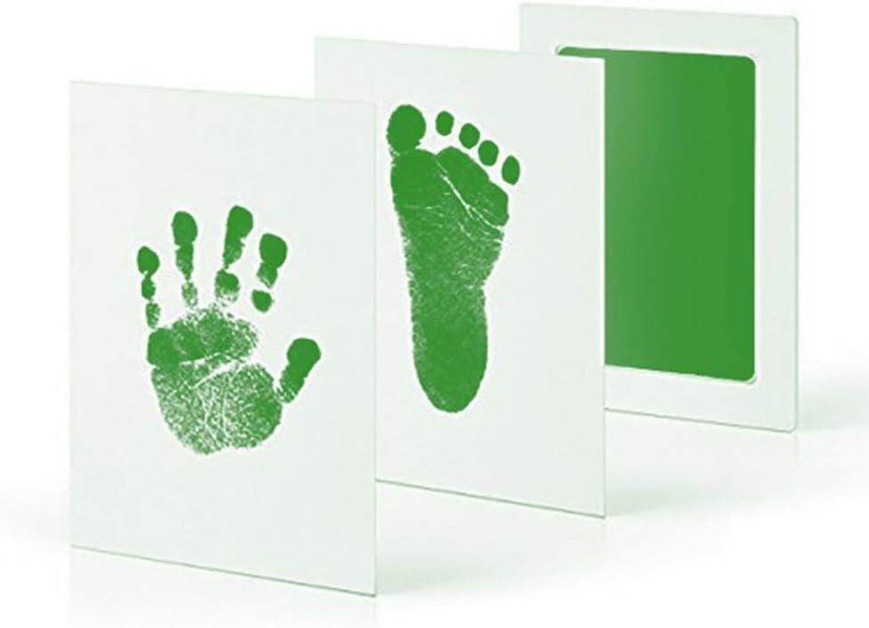 Sans empreinte toxique et sans empreinte de main Lot de 5 tampons encreurs tactiles sans encre pour b/éb/é Impression de pieds et de mains Accessoires non toxiques et s/ûrs Cadre de b/éb/é