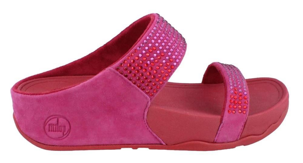 FitFlop Flare Slide Damen Damen Slide PlateauSandale rosa 5a972b
