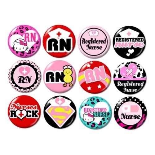 Registered Nurse Buttons Pins ()