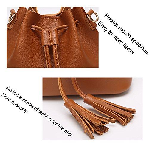 Shoulder HAOXIAOZI Tassel White Messenger Femmes Casual Messenger Bag qvFnvZ7wf