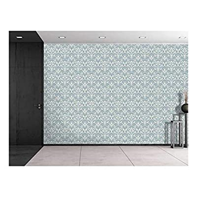 Large Wall Mural Seamless Floral Pattern Vinyl Wallpaper Removable Decorating, Premium Creation, Amazing Handicraft
