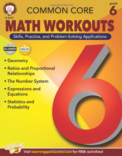 Counting Number worksheets grade 7 math probability worksheets : Common Core Math Workouts, Grade 6: Karice Mace, Keegen Gennuso ...