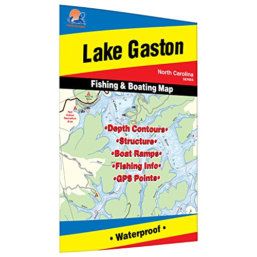 Gaston Lake Fishing Map