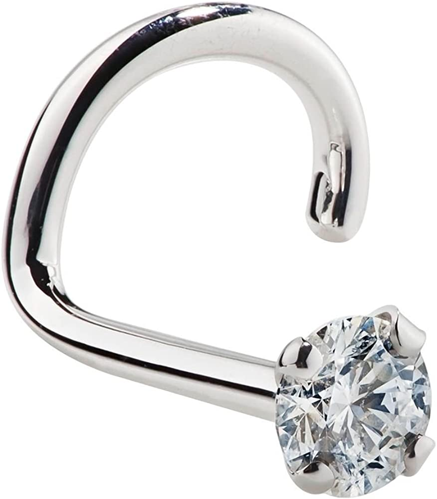 Amazon Com Freshtrends I1 1 5mm 0 015 Ct Tw Diamond 14k White