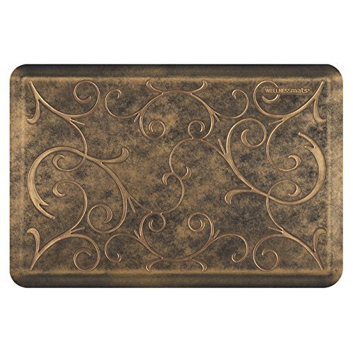 WellnessMats Estates Collection Essential Series Bronze Bella 3 x 2 Foot Anti-Fatigue Mat
