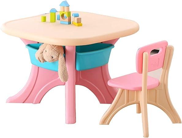 Juego De Mesa Y Silla para Niños Escritorio Y Silla De Estudio Mesa De Juego Mesa Y Silla De Comedor para Niños (Color : Pink, Size : A): Amazon.es: Hogar
