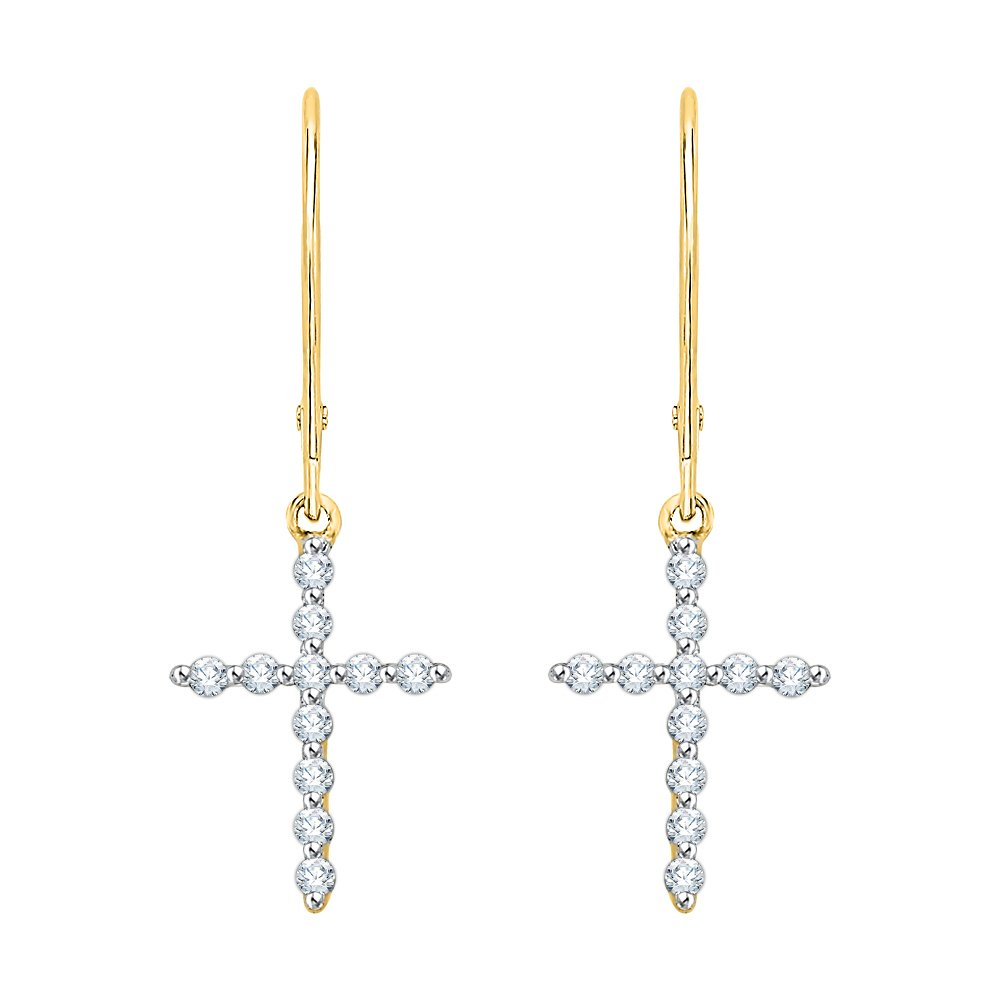 KATARINA DiamondIn and Out Hoop Earrings in 10k Yellow Gold 1 1//2 cttw, G-H, I2-I3